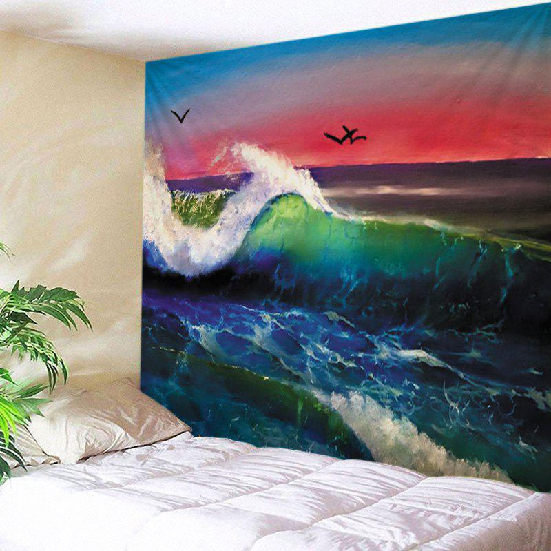 Wall Hanging Art Ocean Wave Sunset Print Tapestry wall hanging art decor ocean wave sunset print tapestry