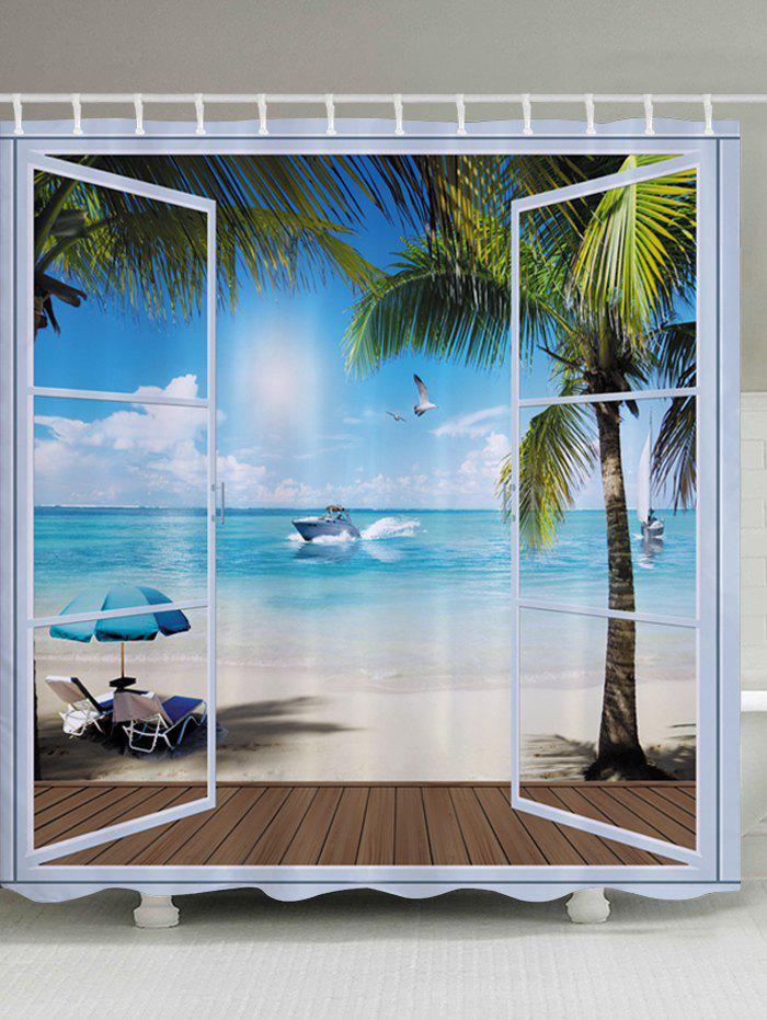 Belcony Beach Pattern Fabric Bathroom Shower Curtain original lcd display with touch screen digitizer assembly for lg g3 d850 d855 tools gold color free shipping