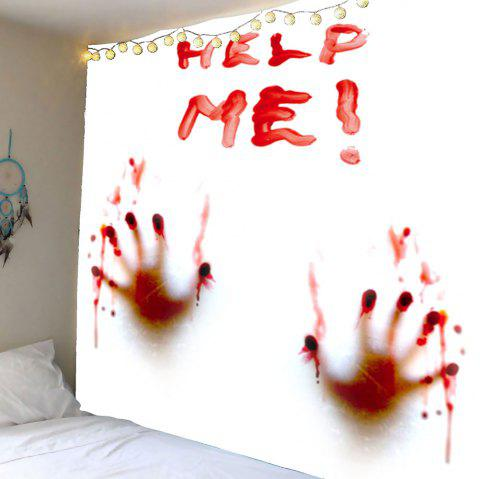 Bloody Help Me Handprint Wall Tapestry