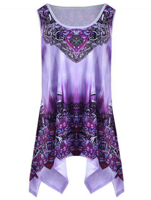2a7929eae35 LIMITED OFFER] 2019 Plus Size Graphic Handkerchief Tunic Top In ...