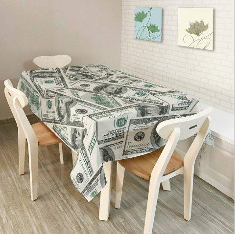 Dollars Print Waterproof Table Cloth - GRAY W54 INCH * L54 INCH