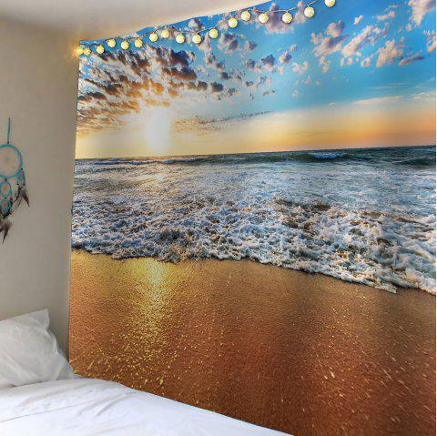 Beach Scenic Waterproof Wall Art Tapestry - GINGER W59 INCH * L51 INCH
