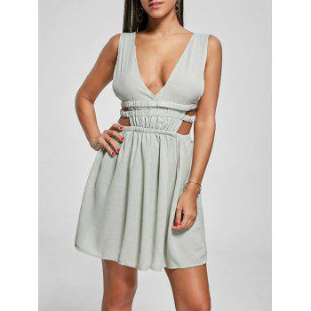 Cut Out Side Plunging Neck Mini Dress