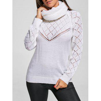 Buttoned Convertible Sheer Knit Sweater