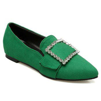 Buckle Strap Rhinestones Flat Shoes