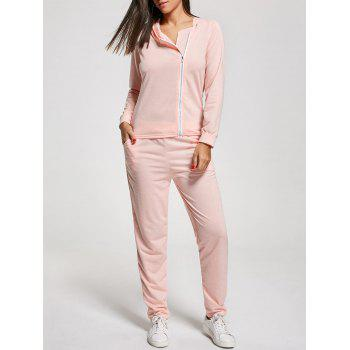 Long Sleeve Zip Up Two Piece Tracksuit