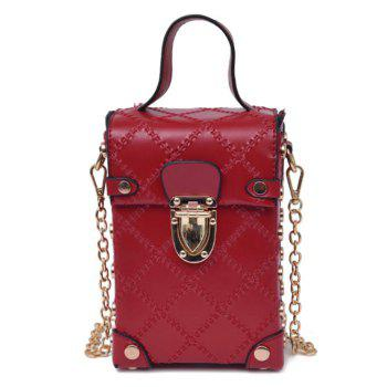 Rivet Stitching Chain Cross Body Bag