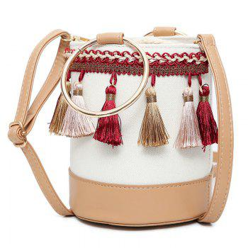 Metal Ring Tassel Bucket Bag