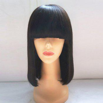 Neat Bang Medium Straight Bob Synthetic Wig