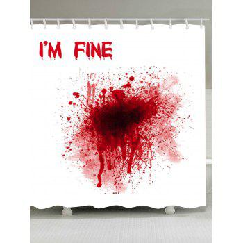 Waterproof Bloody I'M FINE Shower Curtain