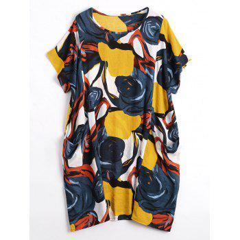 Plus Size Funny Print Casual Dress