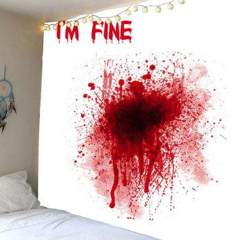 Bloody I'M FINE Wall Hanging Tapestry