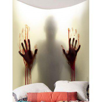 Blood Hand Shadow Printed Wall Tapestry - SMOKY GRAY W79 INCH * L59 INCH