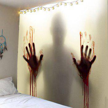Blood Hand Shadow Printed Wall Tapestry