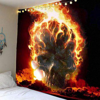 Fire Skull Wall Art Tapestry