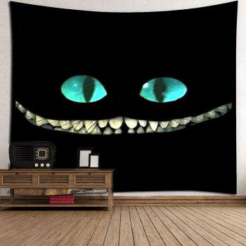 Horror Smile Face Wall Art Tapestry - BLACK W79 INCH * L59 INCH