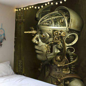 Home Decor Robot Skull Wall Hanging Tapestry
