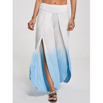 Ombre High Slit Palazzo Pants