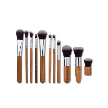 Nylon Wooden Handle Makeup Brushes Set