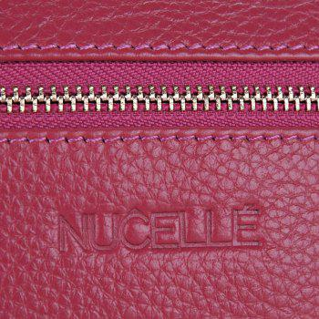 Pebbled PU Leather Wristlet -  ROSE RED