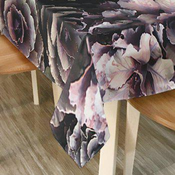 Flower Print Waterproof Table Cloth - W54 INCH * L72 INCH W54 INCH * L72 INCH