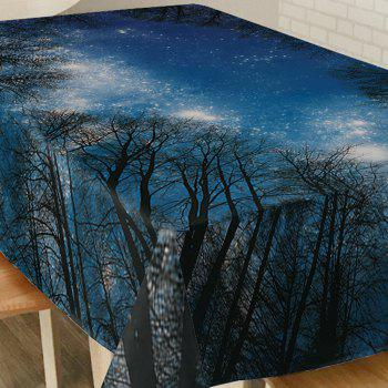 Starry Night Tree Print Waterproof Table Cloth - W54 INCH * L72 INCH W54 INCH * L72 INCH
