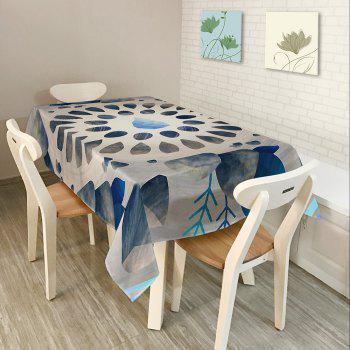 Printed Waterproof Fabric Dining Table Cloth - COLORMIX W54 INCH * L54 INCH