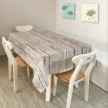 Wood Flooring Print Waterproof Table Cloth - GREY WHITE W54 INCH * L54 INCH