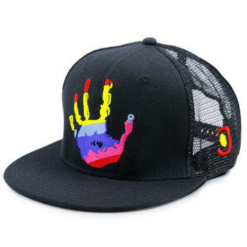 Mesh Splicing Multicolor Palm Printed Baseball Hat