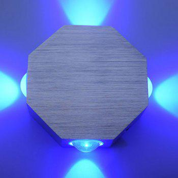 Energy Saving Aluminum Modern LED Wall Light - BLUE BLUE