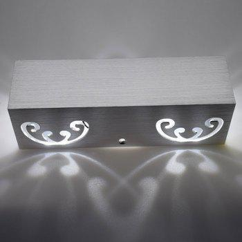 Modern Cuboid Shape Aluminum LED Wall Light - WHITE LIGHT WHITE LIGHT