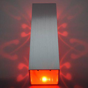 Modern Cuboid Shape Aluminum LED Wall Light - RED