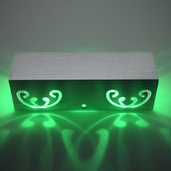 Modern Cuboid Shape Aluminum LED Wall Light - GREEN GREEN