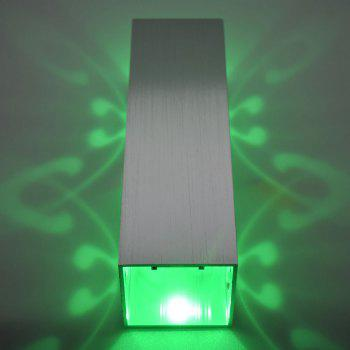 Modern Cuboid Shape Aluminum LED Wall Light - GREEN