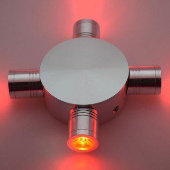 Modern LED Indoor Outdoor  Fixture Wall Light -  RED