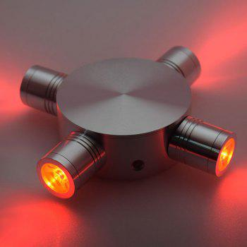Modern LED Indoor Outdoor  Fixture Wall Light - RED RED