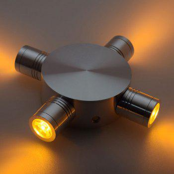 Modern LED Indoor Outdoor  Fixture Wall Light - YELLOW YELLOW