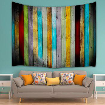 Colorful Woodgrain Wall Hanging Fabric Tapestry - COLORMIX W51 INCH * L59 INCH