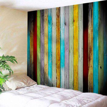 Colorful Woodgrain Wall Hanging Fabric Tapestry