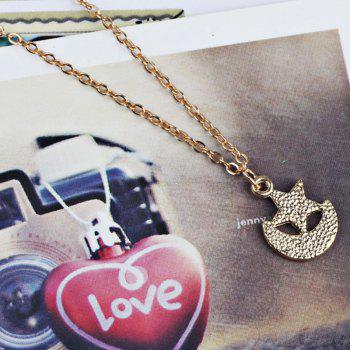 Moon Star Pendant Collier Collier - Or