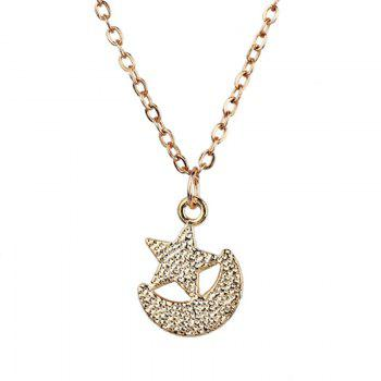 Moon Star Pendant Collarbone Necklace