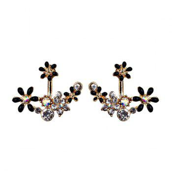 Rhinestone Flower Sparkly Ear Jackets