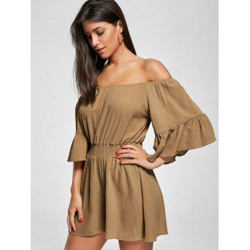 Off The Shoulder Smocked Ruffle Romper - 2XL 2XL