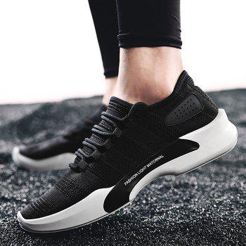 Mesh Breathable Tie Up Athletic Shoes - 43 43