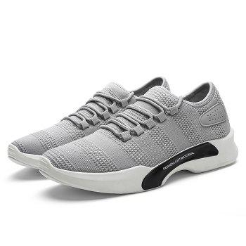 Mesh Breathable Tie Up Athletic Shoes - 41 41