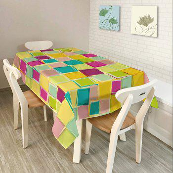 Colorful Plaid Print Waterproof Table Cloth - COLORFUL W54 INCH * L72 INCH