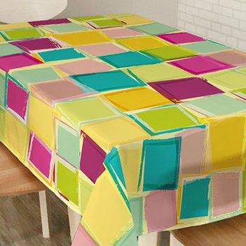 Colorful Plaid Print Waterproof Table Cloth - W60 INCH * L84 INCH W60 INCH * L84 INCH