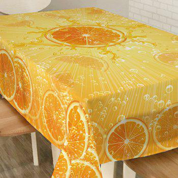 Drap de table imperméable Orange Print - Orange W54 INCH * L72 INCH