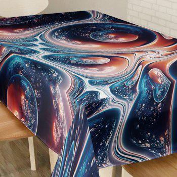 Galaxy Vortex Print Waterproof Table Cloth - W54 INCH * L72 INCH W54 INCH * L72 INCH