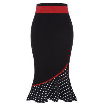 Jupe Midi aux Polka Dot High Waisted